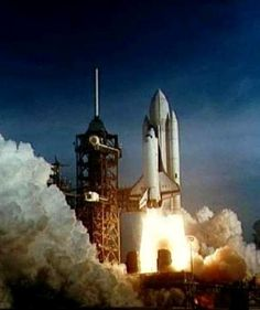 The Space Shuttle Columbia begins its ascent into space. Learn more about this mission, and its tragic end, in Space Shuttle Columbia: Mission of Hope