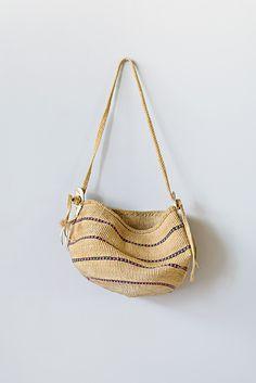 Vintage Sisal Bag with Deer Hide Tassels | $58