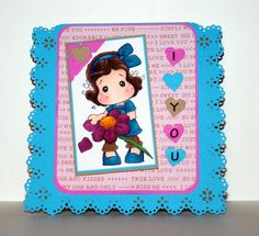 Adorable handmade I Love You card by rbowen on Etsy