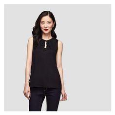 18d291eeef54f Tie Gathered Waist Tank from Joe Fresh. This sleeveless tank features  gathered tie details on