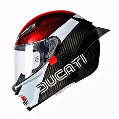Ducati themed helmet