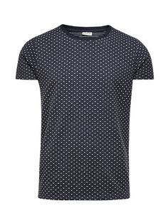 ALL-OVER DOTS T-SHIRT, Navy Blazer, large
