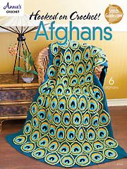 Hooked on Crochet! AfghansI I'm normally not a huge fan of afghans, although I've pinned a few; this particular booklet has several patterns (including this peacock afghan) that I actually would be willing to try!