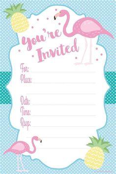 free Printable Pink Flamingo Invitations için resim sonucu