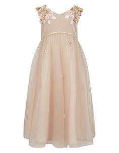 Velvet Lilly Dress | Taupe | Monsoon