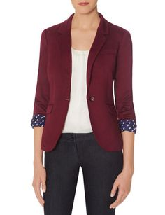 Topstitched One Button Jacket from THELIMITED.com