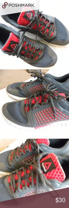 a2366d20325c Reebok Men s Running Shoes 13 Gray   Orange Reebok Men s Running Shoes  ZQuick Electrify ZRated Color Black Gravel Red White Size 13 In good shape