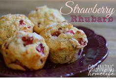 Strawberry Rhubarb Muffins - Organizing Homelife