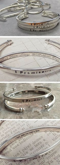 Personalize your own IPromise bracelet by having a custom message engraved on the inside! These are the perfect gift for moms, brides, besties, daughters, graduates & of course yourself! ♥