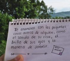 #Cartasdeamor - enamorarse - mirada - risa - sonrisa - frases