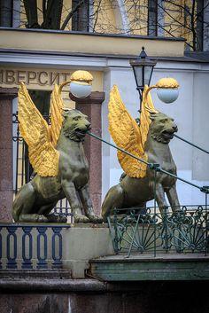 Bank Bridge in Saint-Petersburg #saint-petersburg #spb #st.petersburg