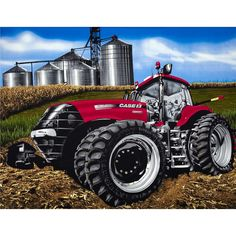 Case Red 8 Wheel Tractor Quilt Panel  from @fabricdotcom  From CNH America, this cotton print is perfect for quilting, apparel and home decor accents.  Colors include black, white, grey, red, blue, green, yellow, tan and brown.  This panel measures approximately 36'' x 44''.