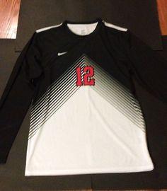 Nike Men's Long Sleeve Soccer Jersey Top Medium New White & Black/Red #Nike #Internacional