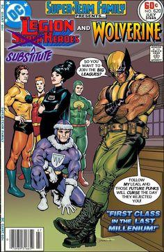 #dc #dccomics #marvel #marvelcomics #superteamfamily  #comicbooks #covers #superheroes #comicwhisperer #comiccovers #wolverine #legionofsubsitutesuperheroes