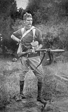 Canterbury Trooper during Boer War. New Zealand Mounted Rifles Nz History, African History, World History, Military Photos, Military Art, Military History, British Soldier, British Army, Colonial