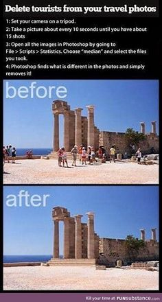 Remove all tourists from your travel shots