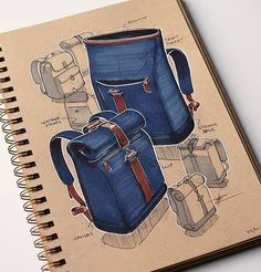 bag development sketch #industrialdesign #id #productdesign #design #designer #designsketching #idsketching #sketch #sketchbook #sketching #sketches #drawing #pen #marker #render #tonedpaper #instasketch #instadesign #sketchoftheday #bag #bags #backpack #leather