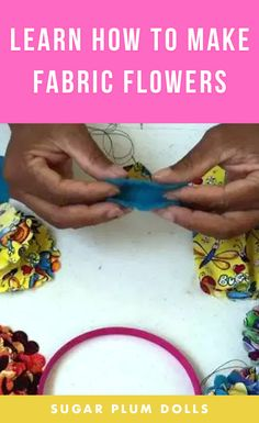 Learn how to make Fabric flowers for headbands, hairbows, etc.. #fabricflowers #diyflowers #craft #diy #craftideas #craftproject #diyproject #sewing #sewingproject #diysewing #handmade Fabric Crafts, Sewing Crafts, Sewing Projects, Craft Projects, Paper Crafts, Felt Roses, Felt Flowers, Diy Flowers, Fabric Bouquet