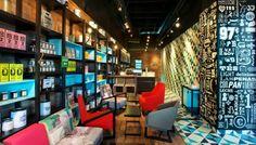 interior Cielito Lindo coffee shop in Mexico City