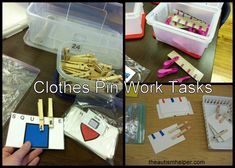 Clothes Pin Work Tasks by theautismhelper.com