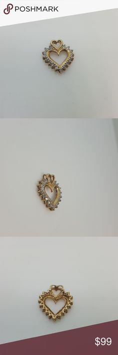10k heart pendant with diamonds 10k heart pendant with diamonds Jewelry Necklaces