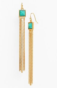 Vince Camuto 'Clearview' Stone Fringe Earrings available at #Nordstrom