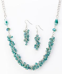 Another great find on #zulily! Turquoise Bead Cluster Set #zulilyfinds