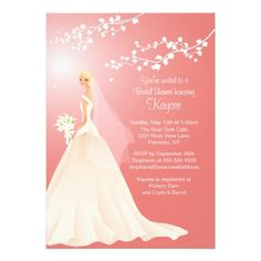 This DealsTrendy Coral BLONDE  Bride Bridal Shower Invitewe are given they also recommend where is the best to buy
