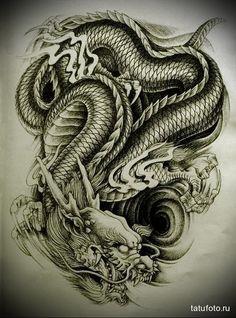 японский дракон арт - Поиск в Google