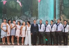 Johannesburg is perhaps not what most would consider a wedding-friendly environment. That is exactly why today's wedding photos are something truly different. We all want the open-air weddings, either on the beach or in a forest, but today's shoot proves that with a little imagination even the harshest urban environment can be transformed into a beautiful rustic wedding venue.