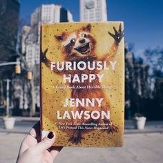"""Started FURIOUSLY HAPPY by Jenny Lawson (@thebloggess) yesterday and I am so in love.  .  I haven't felt this excited about a book in a long time, and I've NEVER laughed so hard while reading one. I almost want to listen to the audiobook too!  .  I will absolutely write a full post on this book because it's filling my heart with so much joy and comfort that someone can be as """"crazy"""" as I am. And still be insanely inspirational. #pretendyouregoodatit"""