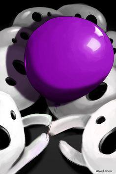 Balloon Graphic Art on Canvas