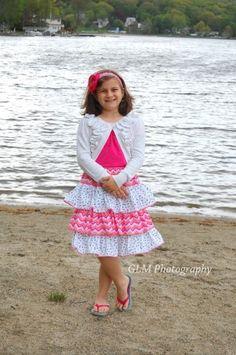 Amanda's Tweens Triple Ruffle Skirt PDF Sewing Pattern | YouCanMakeThis.com