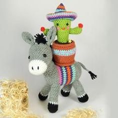 Dante the donkey and Carlos the cactus