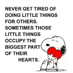 Little things always count