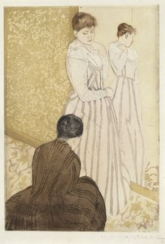 The Fitting, Mary Cassatt, 1890-1891