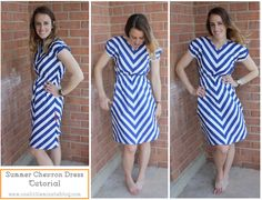 to sew // Summer Chevron Dress: Tutorial