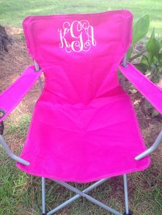 Monogrammed Folding Chair Beach Chair Lawn by KidsKuteKreations