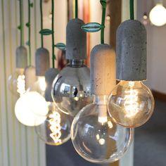 Nud collection stoffkabel textilkabel design betonlampe betonfassung betonleuchte haengeleuchte kupfer kabel