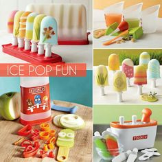 Make your own ice pops