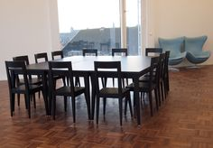 T-Bone, chairs and tables, design bOb Van Reeth, Dossin Kazerne Mechelen