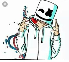 it is marshmello Musik Wallpaper, Cool Wallpaper, Wallpaper Backgrounds, Dope Wallpapers, Gaming Wallpapers, Cartoon Kunst, Cartoon Art, Marshmello Wallpapers, Hypebeast Wallpaper