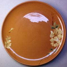 California Pottery Padre Regal Charger HP Slip Signed Ziona