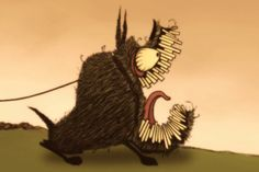 "Bill Plympton provided Cartoon Brew with this clip from ""Guard Dog Global Jam,"" a remake of his Oscar nominated short with the participation of dozens of animators."