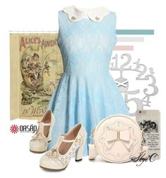Disney's Alice in Wonderland - Oasap Inspiration #1 by rubytyra on Polyvore featuring Koziol, vintage, Spring, disney, disneybound and oasap