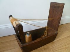 RARE Antique Tape Box Loom Pennsylvania Origin Functional Amazing | eBay