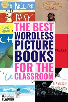 Looking for the best wordless picture books for kindergarten, preschool, and other elementary learners? Click the pin to check out these 10 wordless picture books, including Chalk and A Ball for Daisy! Reading Fluency, Reading Intervention, Reading Strategies, Teaching Reading, Reading Centers, Wordless Picture Books, Wordless Book, Phonics Activities, Reading Activities