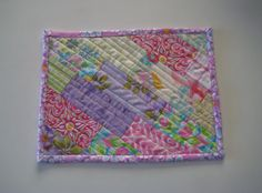 Handmade Quilted Mug Rug 148  Snack Mat Plant Mat by PeppersAttic