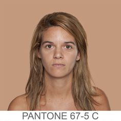 Artist matches portraits with pantone colors - very cool