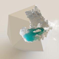 Ben Young combines glass and concrete into surprising works of art. Epoxy Resin Art, Concrete Art, Wall E, Diy Resin Crafts, Diy Décoration, Surreal Art, Unique Art, Home Art, Glass Art
